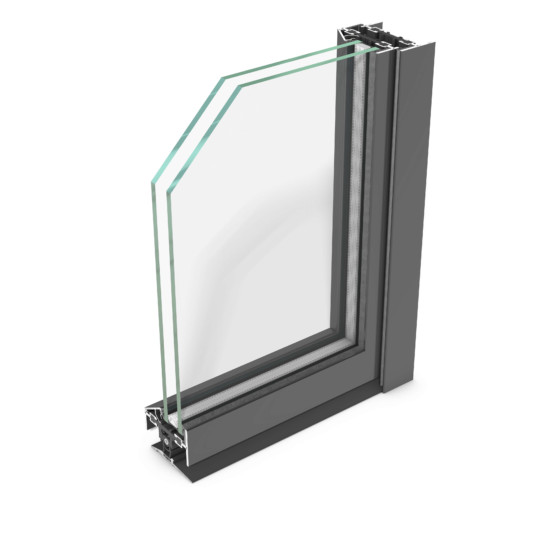 rp fineline 70D – thermally insulated design profile system for steel doors, featuring extremely slim face widths