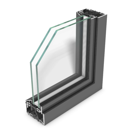 rp fineline 70W – thermally insulated design system for steel windows, featuring extremely slim face widths