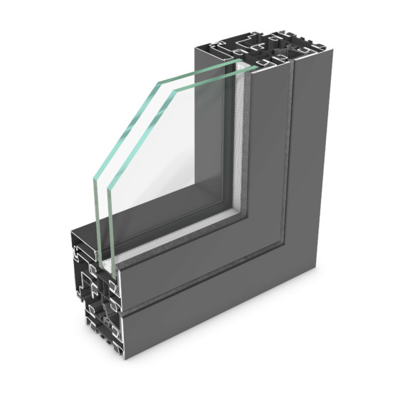 rp hermetic 70W – steel profile system for windows and partition walls
