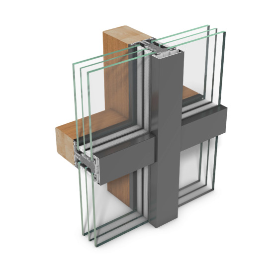 rp tec 55-1, add-on curtain wall of mullion-transom design for passive building requirements