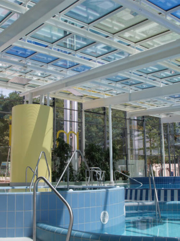 Badepark Waldkirchen Stahl Aufsatzfassade Rp Tec 60 1 Innen