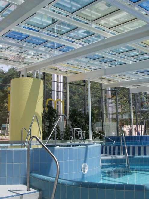Badepark Waldkirchen Stahl Aufsatzfassade rp tec 60-1 Innen Vorschau