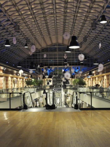 Balna Center Ganzglas Fassadensystem Rp Tec 55 1SG Innen