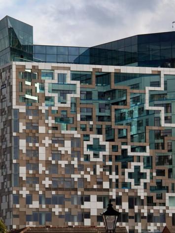 Cube Birmingham Stahl Aufsatzfassade Rp Tec 55 1SG Dach