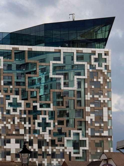 Cube Birmingham Stahl Aufsatzfassade rp tec 55-1SG Dach Vorschau