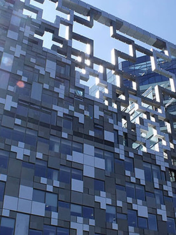 Cube Birmingham Stahl Aufsatzfassade Rp Tec 55 1SG Detail 2