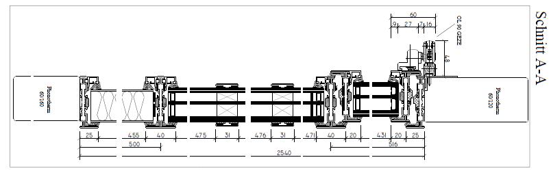 Hotel Barefoot Stahlfenstersystem Rp Fineline 70W Schnitt