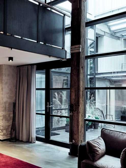Hotel Fishers Loft Fassadensystme rp fineline 70W rp tec 55 Blick Innenhof Vorschau