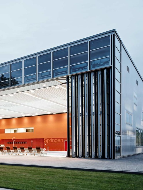 Inselparkhalle Hamburg Aufsatzfassade rp tec 55-1 Eckansicht Vorschau