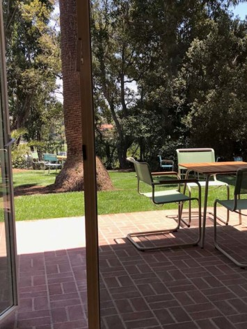 Mann Villa Los Angeles Design Stahl Fenstersytem Rp Fineline 70W Gartenblick