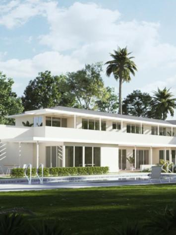 Mann Villa Los Angeles Design Stahl Fenstersytem Rp Fineline 70W Gesamt