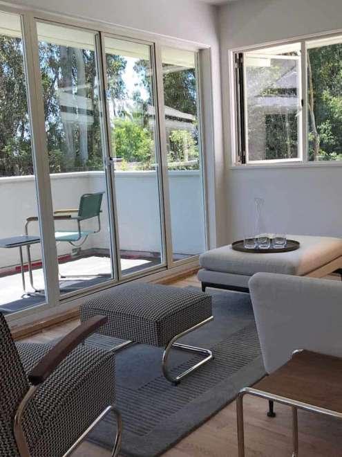 Mann Villa Los Angeles Design Stahl Fenstersytem rp fineline 70W Innen Vorschau