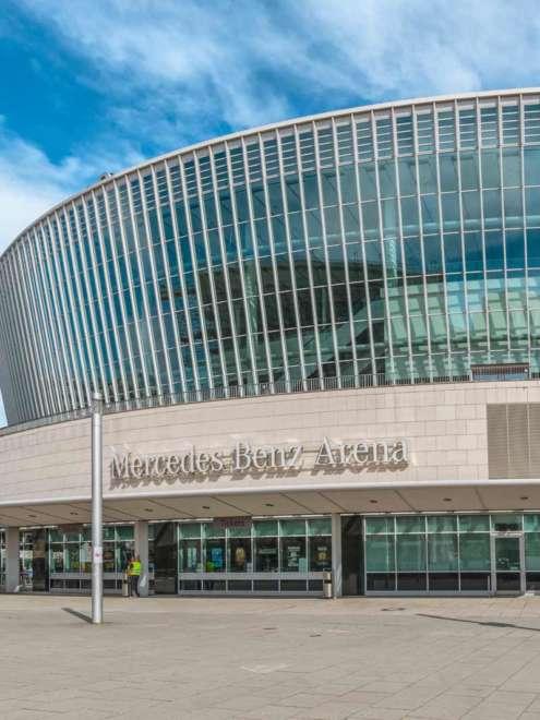 Mercedes Benz Arena Berlin Stahl Fassade Detail Vorschau