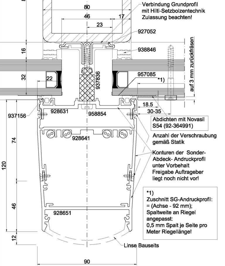 Mercedes Benz Arena Berlin Stahl Fassade Schnitt 1