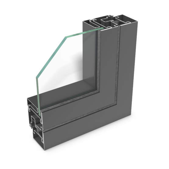rp hermetic 55W – cost-efficient steel profile system for partition walls.