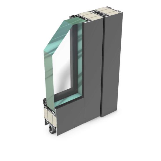 rp hermetic 70FP-90 – wärmegedämmtes Stahl-Profilsystem für EI90/F90/T90 Brand- und Rauchschutztüren