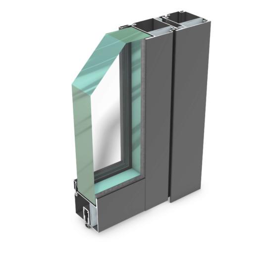 rp hermetic 75BR – durchschusshemmendes Stahl-Profilsystem für Türen und Trennwände